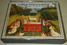 J.S. BACH-MASS IN B MINOR-WEST GERMAN 2xCD 1985-FULL SILVER INNER RING-GARDINER