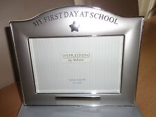BNIB MY FIRST DAY AT SCHOOL SILVER PHOTO FRAME
