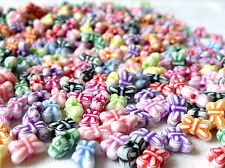 250 MIXED PASTEL COLOUR BOW CHARM BEADS JEWELLERY MAKING CRAFTS 9mm CHP0009
