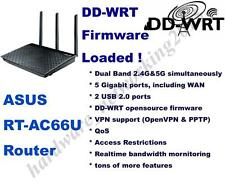 Asus RT-AC66U RT-AC66R AC1750 Dual-Band Wireless Router with dd-wrt VPN Firmware