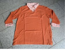 Stretchshirt mit Bluseneinsatz in orange Gr. 48 von Giada