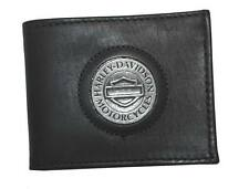 Harley-Davidson Men's Medallion Bar & Shield Wallet Black Leather FB318H