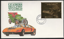 Zambia (397) 1987 Classic Cars - CITROEN-MASERATI  22k gold foil First day Cover