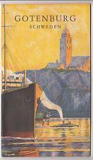 Reise Broschüre Gotenburg Schweden 1932 Sweden !