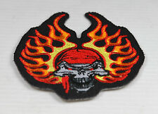 Patch  skull flammes  bandana  , us  ,biker,écusson,custom ,déco,