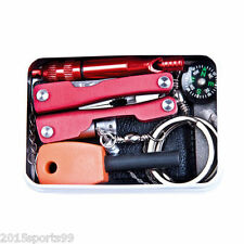 Self Outdoor Sporting Camping Hiking Survival Emergency Gear Tools Box Kit Set