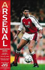 Football Programme ARSENAL v MAN UTD Feb 1992