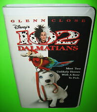 Disney 102 Dalmatians VHS Glenn Close Alice Evans Loan Gruffudd Gerard Depardieu