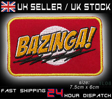 """BAZINGA"" The Big Bang Theory - Embroidered Iron-On / Sew-On Patch - NEW - #1L08"