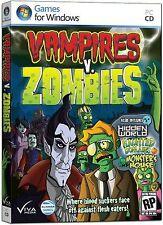 VAMPIRES V. ZOMBIES Bonus Edition 4 PACK PC Game CD-ROM NEW
