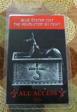 GENUINE OTTO Blue Oyster Cult Revolution by Night Tour Laminated Backstage Pass