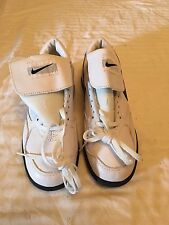 NIKE AIR MENS WHITE LEATHER COACHING SHOES SIZE 7.5