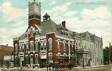 Kansas, KS, Junction City, Opera House, Fire Department 1909 Postcard