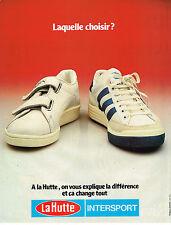PUBLICITE ADVERTISING 045  1979  LA HUTTE INTERSPORT  chaussures baskets 2
