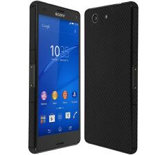 Skinomi Carbon Fiber Black Skin+Screen Protector for Sony Xperia Z3 Compact