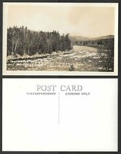 Old Maine Real Photo Postcard - Greenville - Penobscot River