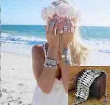 Boho Brass/Silver Tone Gypsy Bracelet Punk Style Vintage Retro Protect Arm Cuff