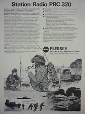 1/1973 PUB PLESSEY ELECTRONIC SYSTEMS STATION RADIO PRC 320 CLANSMAN FRENCH AD