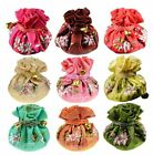 Wholesale8pcs Chinese Vintage Embroidered Silk Jewelry Rolls Pouch Gift Bags