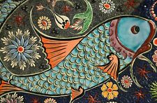 "perfect 36x24 oil painting handpainted on canvas ""a fengshui koi fish"" NO1384"