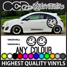 VAUXHALL CORSA ASTRA LOGO AND TEXT SIDE GRAPHICS STICKERS DECALS KIT STRIPE