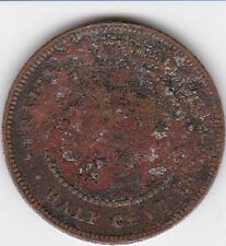 1883 Straits Settlements 1/2 Cent,   RARE  Look