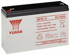 YUASA NP10-6, 6V 10Ah AGM Battery Electric Toy Cars Model Boats Alarms Bell