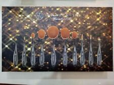 NEW Anastasia Beverly Hills Oval Blending Makeup Brush Set 10 pieces.