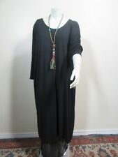 "ART TO WEAR LAGENLOOK CONJURING LUXURY MODAL SILK KNIT KIMONO DRESS 80"" B 50"" L"