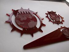Warhammer 40K 4000 Plastic Blast Templates Pack World Eaters Red Forgeworld Chao