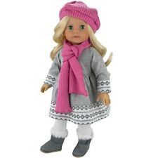"Toddler Toy Doll Clothes 4 Pc. Outfit Fit For 18"" American Girl Dolls & More Gre"