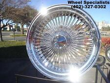 "17"" Dayton Style Rear Wheel Drive 100 Spoke Chrome knockoff Wire wheels Set (4)"