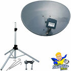 60cm Sky satellite dish zone + quad LNB & tripod kit portable camping caravan