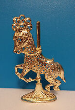 ~Vintage Torino~Jewelry Rack~Earring Stand~Gold Carousel Horse~Lovely Condition!
