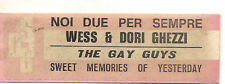 STICKER JUKE BOX - WESS & DORI GHEZZI - NOI DUE PER SEMPRE - THE GAY GUYS -