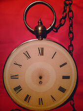 "GIANT POCKET WATCH ""as-is"" Vintage Wall Hanging Novelty Clock with Metal Chain!!"