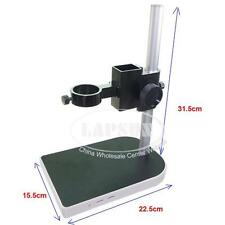 Large Adjsutable Digital Industry Microscope Table Stand Dual Ring Holder 40mm