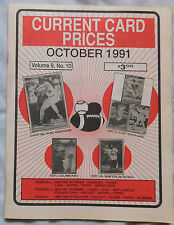 Current Card Prices Oct 1991 Price Guide Baseball Football Hockey