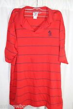 Disney Disneyland Red Blue Mickey Embroidery Polo Rugby Golf Shirt Men's XL