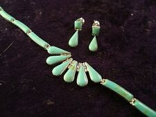 TAXCO MEXICAN 950 STERLING SILVER TURQUOISE BRACELET EARRINGS MEXICO