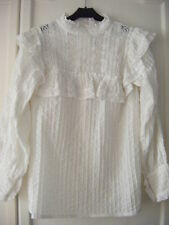 Exquisite Edwardian lady style heavily pintucked blouse worn once for photo 10