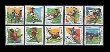 France 2016 Paris - Philex   Soccer [10 USED Stamps]