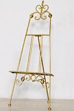 Folding  Antique Gold Metal Table Easel- Ideal for Wedding Table Plans/Display