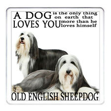 OLD ENGLISH SHEEPDOG coaster Matching Mug Available Can Be Personalised
