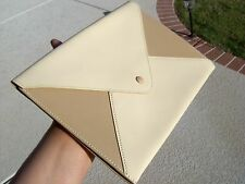 Authentic Hermes Leather Envelope Clutch Bag