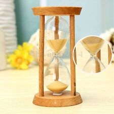 3 Mins Wooden Frame Sandglass Sand Glass Hourglass Timer Clock Decor Unique Gift
