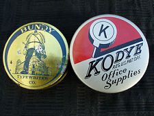 OLD VINTAGE BUNDY & KODYE TYPEWRITER RIBBON TIN LOT MINT UNUSED