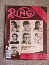 AUGUST 1985  RING MAGAZINE MAGNIFICENT SEVEN HOF COVER LAMOTTA