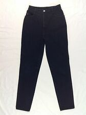 Vintage BONGO High Waisted Tapered Jeans 80's 90's BLACK size 7 High Rise EUC
