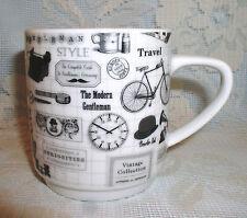 Mug Modern Gentleman Leisure Travel Style Briefcase Quality Creative Tops White